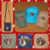 Szálkás szőrű tacskó mintás kistáska és baseball sapkák