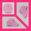 Gyermek rózsaszín baseball sapka 3D-s 'S' betűvel