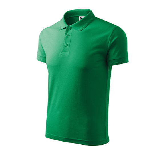 Férfi fűzöld galléros póló