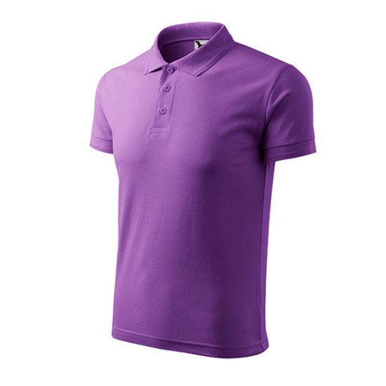 Férfi lila galléros póló
